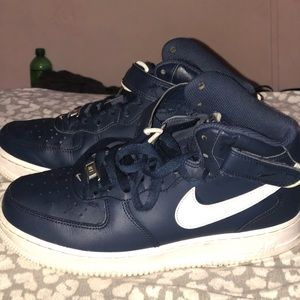 AIR FORCE ONE NAVY BLUE MID TOP